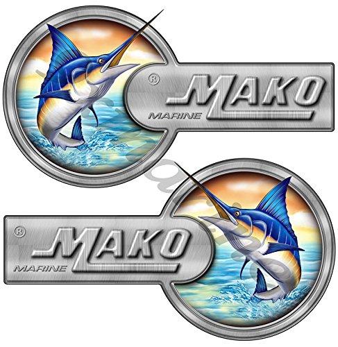 - Two Mako Custom Laminated Decals/Stickers - 16