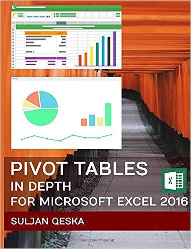 amazon pivot tables in depth for microsoft excel 2016 suljan