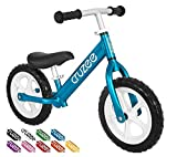 Cruzee Ultralite Balance Bike (4.4 lbs) for Ages 1.5 to 5 Years | Blue - Best Sport Push Bicycle for 2, 3, 4 Year Old Boys & Girls– Toddlers & Kids Skip Tricycles on The Lightest First Bike