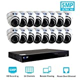 Cheap GW Security 16 Channel 4K NVR H.265 Onvif IP Security System with 16 HD IP PoE 5MP (1920P/1080P) Dome Security Camera