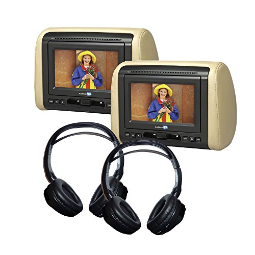 """Audiovox (2) 7"""" DVD Headrest Monitor Systems with (2) Hea..."""