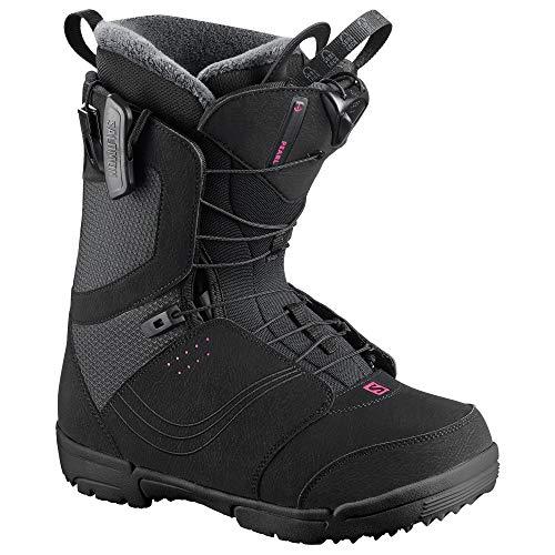 Salomon Women's Pearl Snowboard Boots Black 2019 (7) - Pearl Womens Snowboard Boots