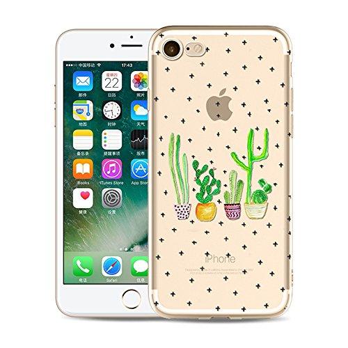 iPhone 6S Funda Silicona, BoomTeck Trasparente Protector Bumper Carcasa para 4.7 Apple iPhone 6 /iPhone 6S Delgado Sottile Goma Cristal Clear TPU Gel Cubierta Shock-Absorción Flessibile Patrón de art 07