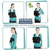 Medical Arm Sling Shoulder Immobilizer– Rotator Cuff Support Brace – Ergonomic Adjustable Black Strap For Men, Women & Kids