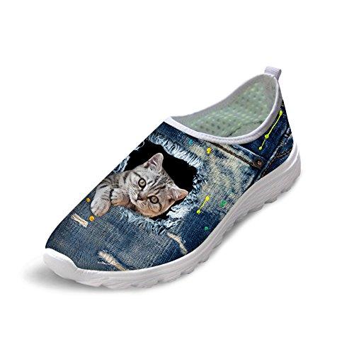 Bigcardesigns Mooie Cat Loopschoenen Sneakers Walking Trainers 39