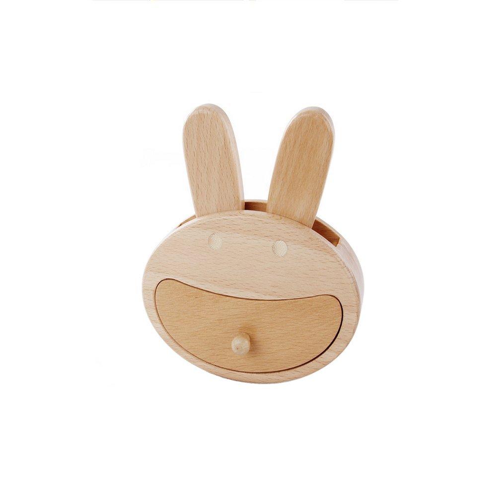 ANONE Baby Tooth Wooden Album ,Baby Tooth Organizer (Rabbit)
