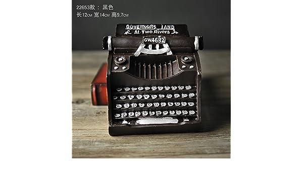 El viejo modelo de máquinas de escribir adornos Home cafés Internet para manejar la resina antigua artesanía escaparate decoraciones suave , pequeña: ...