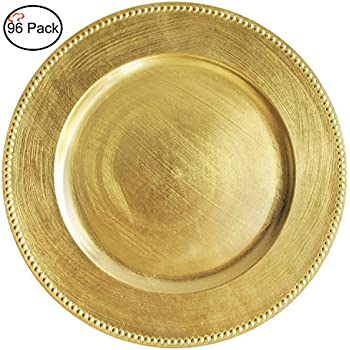 Amazon.com | Koyal Wholesale Charger Plates, Gold (Pack of 4 ...