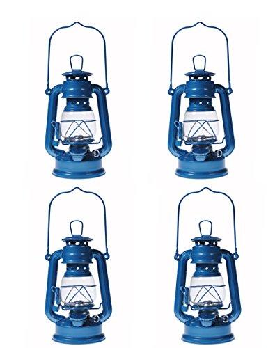 Shop4Omni S4O Hanging Hurricane Lantern/Elegant Wedding Light/Table Centerpiece Lamp - 8 Inches - (4, Light Blue)