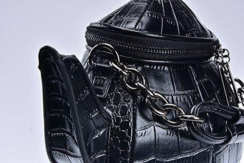 Nite for Teapot Lolita Gothic Crossbody Handbag Shoulder Women Black closet Sweet Bag Funny Purse xrwatY6qAr