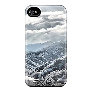 New Arrival Premium 4/4s Case Cover For Iphone (nature Mountains Snowy Slopes)