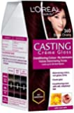 L'Oreal Paris Casting Creme Gloss, Black Cherry 360, 87.5G+72Ml With Ayur Product In Combo