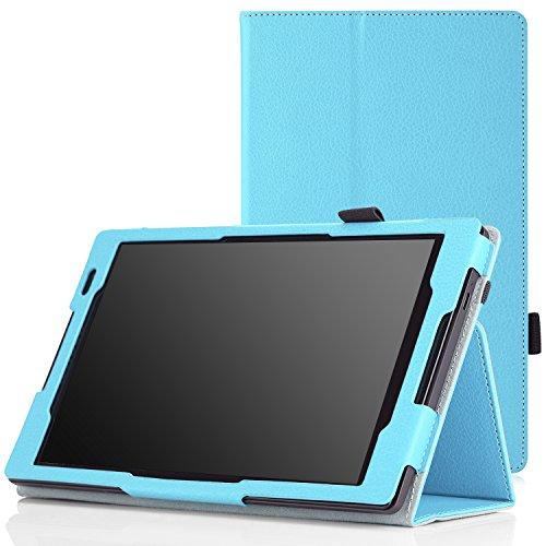 MoKo Lenovo Tab S8-50 Case - Slim Folding Cover Case for Lenovo Tab S8-50 8 inch Android 4.4 Tablet, Light BLUE