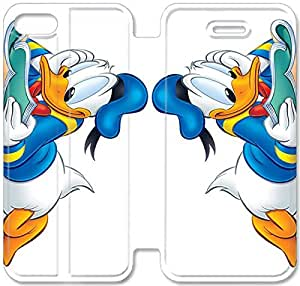 Screen Protection Phone Cases Donald Duck-19 iPhone 4 4S Leather Flip Case