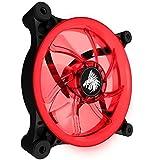 Ventilador para Gabinete LED Eagle Warrior Aurora Rojo