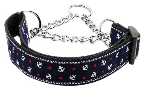 Mirage Pet Dog Cats Indoor Outdoor Training And Behavior Aids Accessories Anchors Nylon Ribbon Collar Martingale Blue Medium , ,Home, garden & living||Pet supplies||Collar, Leads, Harnesses & Training