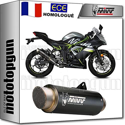 Mivv GP-Pro geluidsdemper, zwart, compatibel met Kawasaki Ninja 125 2019 19 2020 20 k.048.lxbp