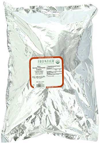 Frontier Chamomile Flowers, German Whole Certified Organic, 16 Ounce Bag