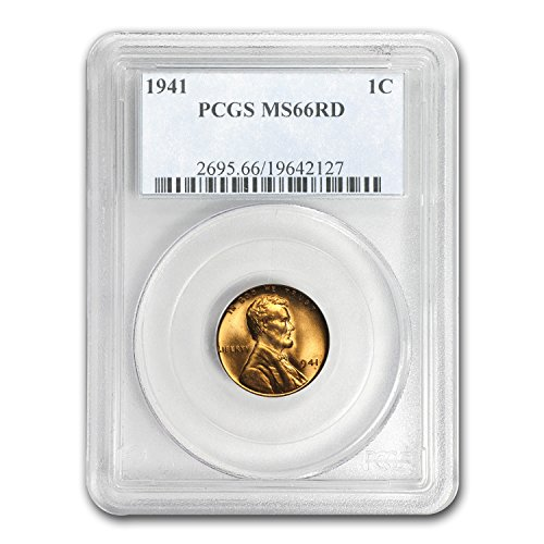 1941 Lincoln Cent MS-66 PCGS (Red) Cent MS-66 PCGS