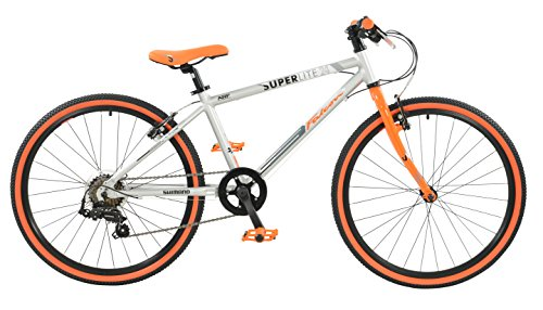 Falcon Boy Superlite Bike Silver/Orange Size 24 Size 24 Silver/Orange by Falcon