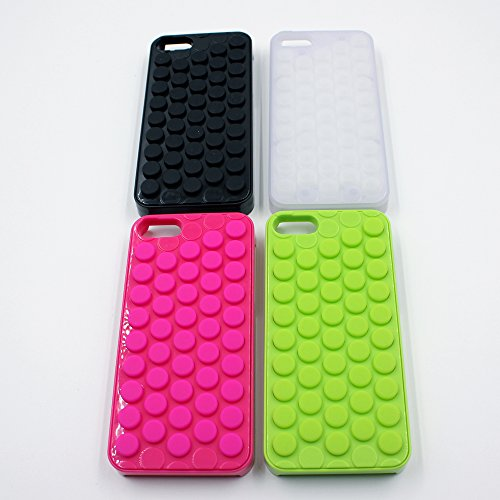 Choize Decompression Bubble Wrap Shell Puchi Puchi for Iphone 5/5s (Black) (Black Cell Phone Wrap)