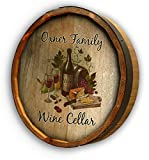 Cheap Personalized Wine Cellar Quarter Barrel Sign