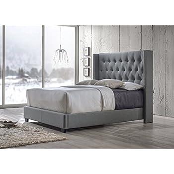 Aiden Gray Queen Size Bed