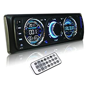 AGPtek® Car Remote Control Audio Stereo In Dash FM Radio Receiver MP3 Player with Front Panel USB Port / SD Card Slot and Aux Input