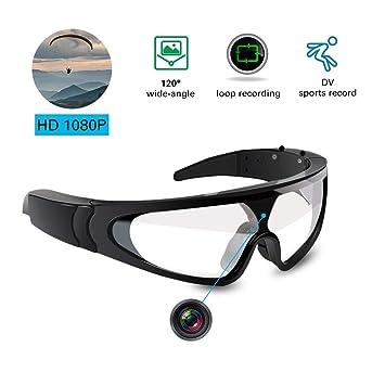 f0687c914e94d2 YAOAWE Outdoor Sports Sonnenbrille – Licht Gewicht Snowboardbrille für  Gleitschirm – Sport Kamera – Full HD