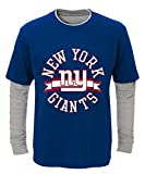 New York Giants Youth NFL 'Definitive' L/S Faux Layer Thermal Shirt