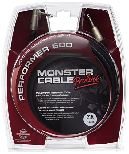 (Monster Performer 600 Instrument Cable - 21' Straight-Angle)