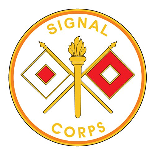 US Army - Signal Corps Plaque - 3.5 Inch Tall Full Color Decal