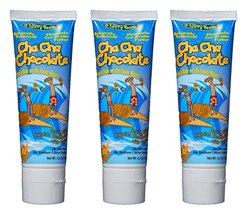 Tanner's Tasty Paste Cha Cha Chocolate Toothpaste (Pack of 3)
