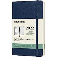 Moleskine DSB2012WN2Y22 - Diario semanal de 12 meses, con tapa blanda, 2022, formato de bolsillo 9 x 14, color azul…
