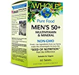 Whole Earth & Sea - Men's 50+ Multivitamin & Mineral, Plant-Based Support for Healthy Aging and Nutritional Needs of Men Over 50 with Plant Sourced Saw Palmetto, B12, and Calcium, Vegan, 60 Tablets