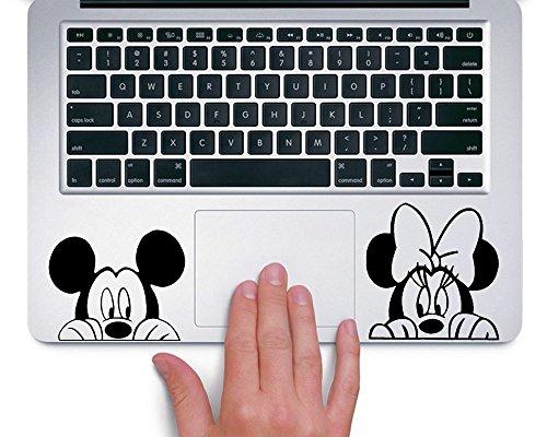 Mickey and Minnie Peeking Macbook Laptop Trackpad Vinyl Stic