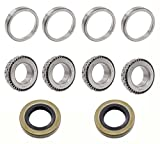2 Set Front Axle Wheel Hub Bearings & Seal 1976 & UP GAS & ELEC FOR EZGO Golf Cart
