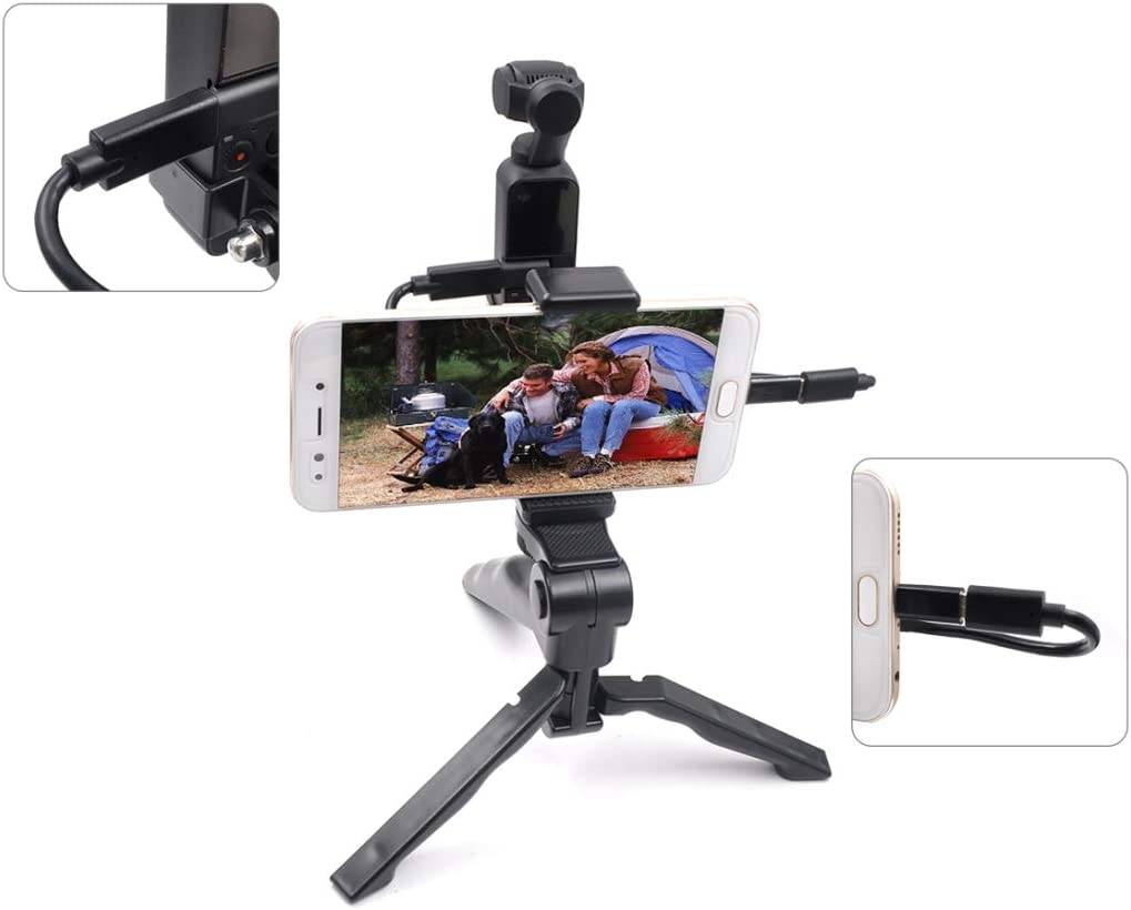 OSMO Pocket Accessories Hyx ABS Handheld Mobile Phone Fixed Tripod Set with Android USB Data Cable for DJI OSMO Pocket