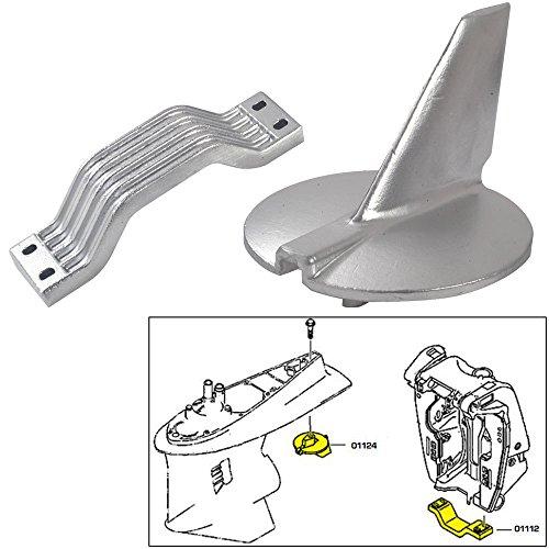 Tecnoseal Anode Kit w/Hardware - Yamaha 200-250HP - Aluminum (52049)