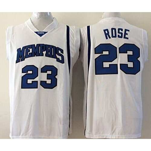 the best attitude 519a4 15021 good Men's Memphis Tigers NO.23 Rose White NCAA Basketball ...