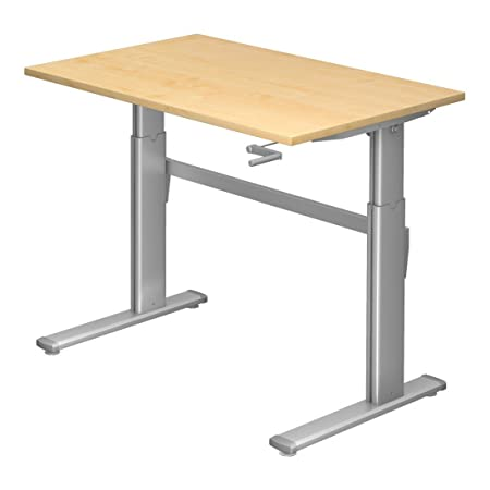dr s office raised desk height adjustable to 119 cm 120 x 80 cm