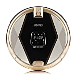 JISIWEI S+ Wi-Fi Enabled Robotic Vacuum Floor Cleaner with Camera and Mobile App Remote Control for Pets and Allergies (Golden)