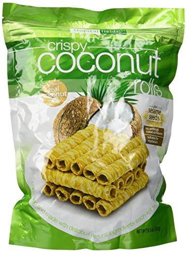 Tropical Fields Crispy Coconut Rolls with Sesame Seeds 9.3 oz (Crispy Rolls)