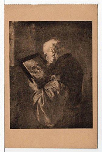 (Chateau de Villandry, The Philosopher, Villandry, France Vintage Original Postcard #4187 - Early 1900's)