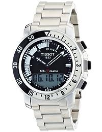 Tissot Men's T0264201105100 Sea Touch Quartz Chronograph Touch Screen Black Dial Watch