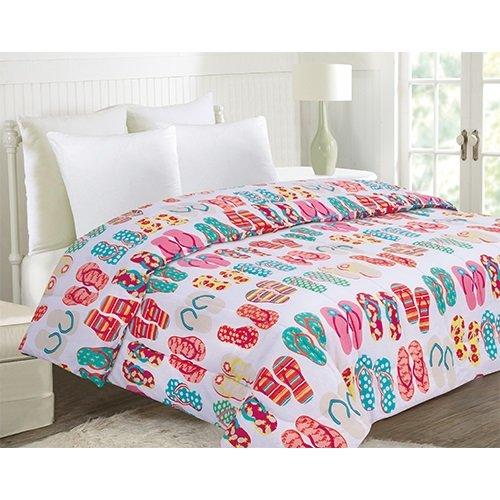 Flip Flop Beds - Ashley Cooper Flip Flops Comforter in queen Size 86 in X 86 in