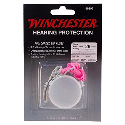Winchester Hearing Protection Ear Plugs for Sport Shooting Range Hunting - Pink, 26db Protection, Easily Fits in Pockets. by HK