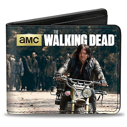 Buckle-Down PU Bifold Wallet - THE WALKING DEAD Daryl Riding/Zombie Herd