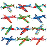 UPINS 48 Pcs 8'' Flying Glider Plane,6 Different Designs