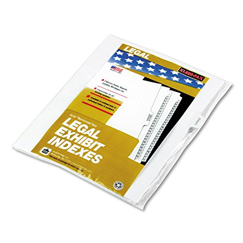 Kleer-Fax Letter-Size Individual Exhibit Letter Index Dividers, Side Tab, 1/10th Cut, 25 Sheets/Pack, White, Exhibit D (91854)
